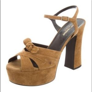Saint Laurent Candy 80 bow sandals